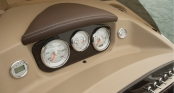 Chrome bezel analog gauges
